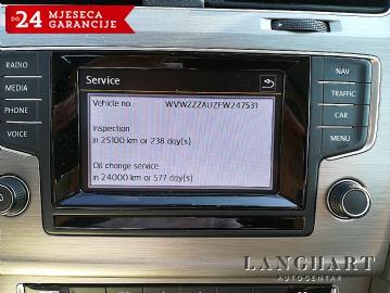 VW Golf VII 1.6 TDI 81 KW Comfortline,1.vl.,servisna,NAVI,ALU,GARANCIJA